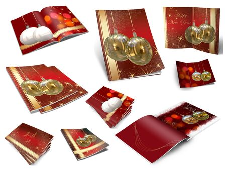 Collection of Christmas balls picture books photo
