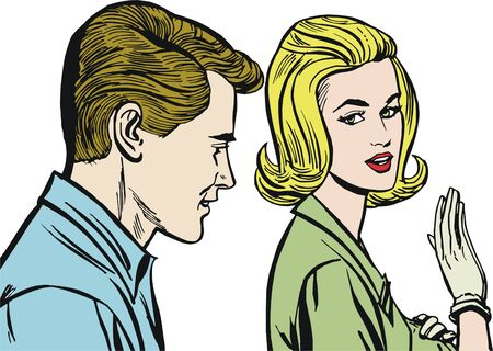 Illustration of a couple in love illustration