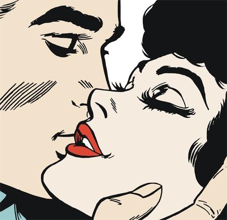 enamorados caricatura: pareja de enamorados