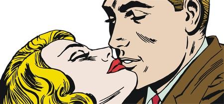 vintage Illustration ,couple of lovers Stock Illustration - 13717435