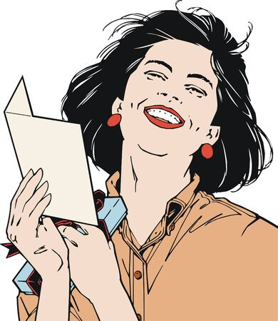 Illustration face of a beautiful businesswoman illustration