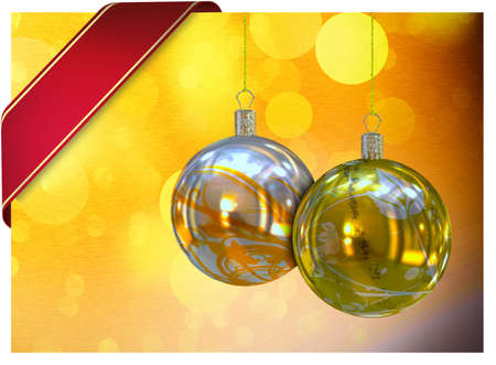 Christmas balls card illustration  Stock Illustration - 15614114