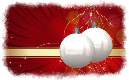 Christmas balls card illustration Stock Illustration - 15614130