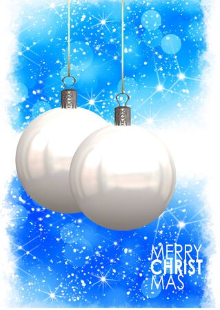Christmas balls card illustration  Stock Illustration - 15614136