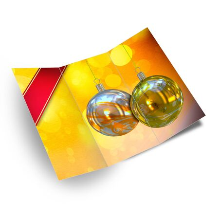 Christmas balls card illustration Stock Illustration - 15715929