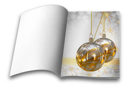 Collection of Isolated Christmas balls picture books photo