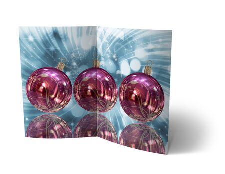 isolated 3d Christmas Balls brochure, Card Illustration illustration