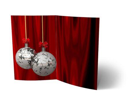 isolated 3d Christmas Balls brochure, Card Illustration Stock Illustration - 16023392
