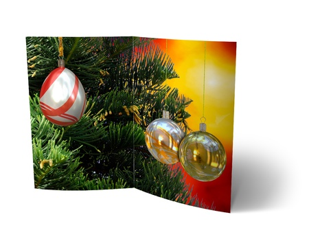 isolated 3d Christmas Balls brochure, Card Illustration Stock Illustration - 16023406