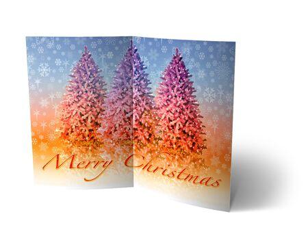 isolated 3d Christmas Balls brochure, Card Illustration Stock Photo