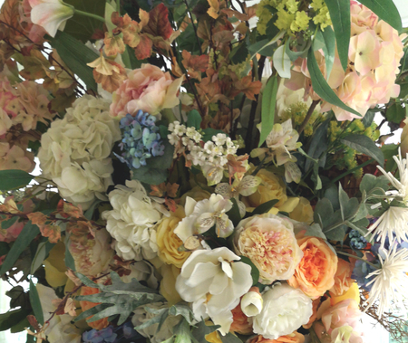 many color flower bouquet background