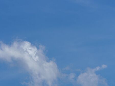 Stratocumulus white clouds in the blue sky natural background beautiful nature environment space for write