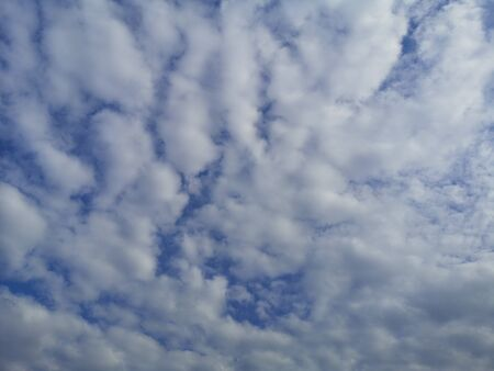 Altostratus white clouds in the blue sky natural background beautiful nature environment