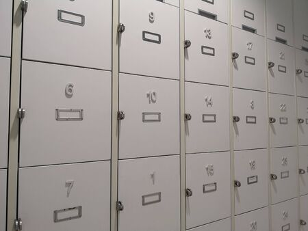 wall mounted locker in the wall