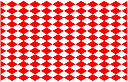 Pattern Red alternate white cross on background, 30 degree straight line intersects a diamond square