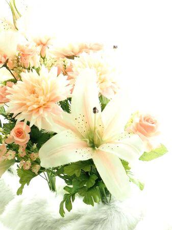 Pink rose,Cattleya orchid beautiful bouquet artificial Handmade