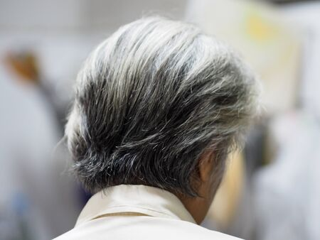 Gray hair, women become older, their hair on their head will become white