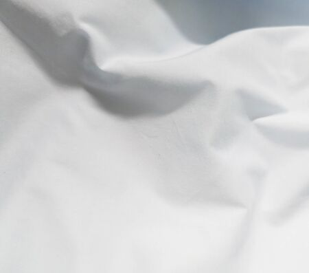white fabric wrinkle texture background abstract design Stock Photo