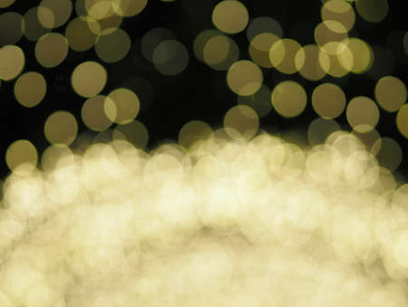 bokeh from shooting table tennis lights colorful lighting, yellow color blurred of background Christmas Day
