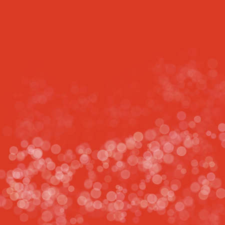 dot soft light white color Paint on red paper background abstract pattern artwork Contemporary arts, Artistic paper, space for frame copy write postcard, bright bokeh