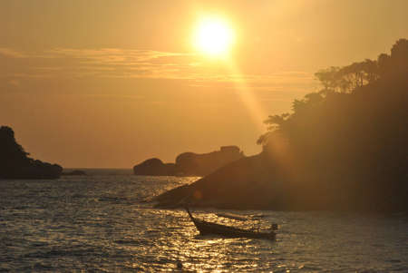 Sunset  in Similan Islands, Thailand Stock Photo - 12029357