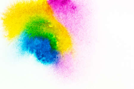 water color painting: Colorful water color painting texture on white background