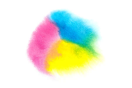 water color painting: Colorful water color painting texture on white background. Stock Photo