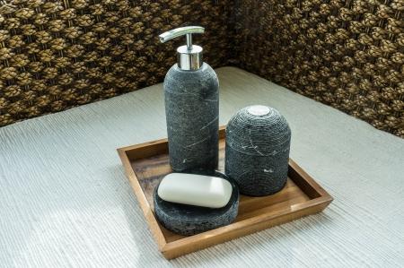 living moment: thai spa gift set centain soap, shampoo and aroma lighting made of handmade ceramics