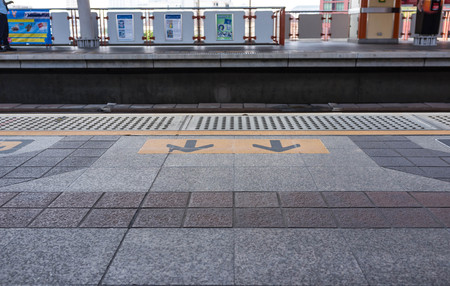 yellow line: stand behind the yellow line waiting for the train