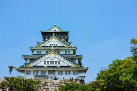 osaka castle: famous spot for tourist, ancient osaka castle in japan Editorial