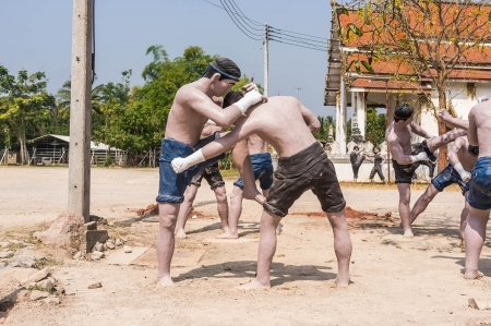 thai kick boxing  muay thai  sculpture used for education
