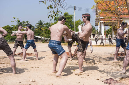 Thai Kickboxing muay thai  sculpture show posture for education