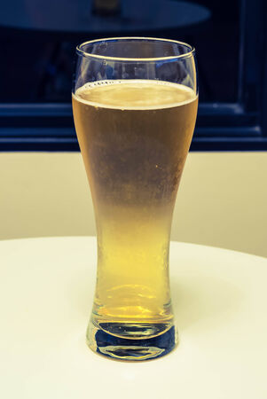 tall glass: fresh beer served in tall glass