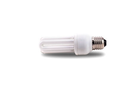 alluminum: light bulb isolated in white background with clipping path Stock Photo