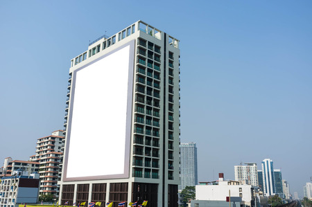 billboard: blank billboard building in the city