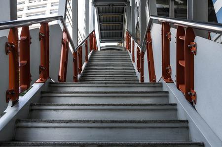 bangkok sky train station platform ladder photo