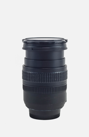 dslr camera: DSLR camera lens isolated in white background with clipping path