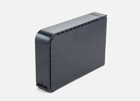 external hard disk drive: external hard drive isolated in white background with clipping path