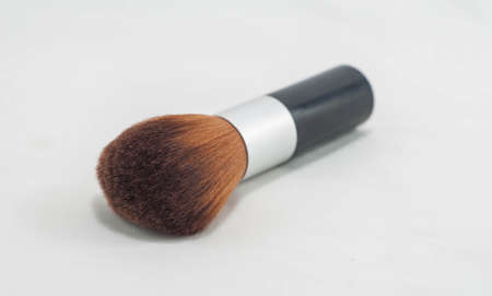 make up brush: make up brush closeup shot isolated in white background with clipping path Stock Photo