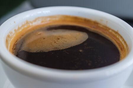 crema: black coffee crema served in local cafe