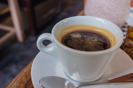 crema: pure blend coffee with crema on top Stock Photo