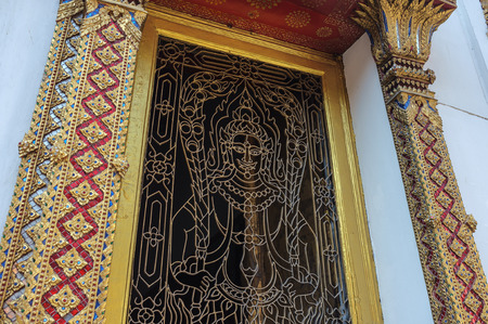art and craft: traditional Thai art craft in buddhist temple for educational purpose