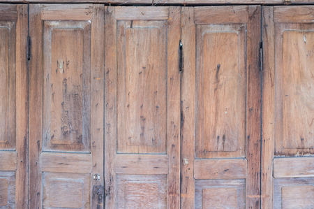 asian culture: traditional wooden entrance door in residence building in Asian culture