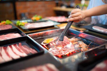 Korean BBQ, Shabu Shabu, Pork, Beef, Shrimp, Seafood and Vegetables