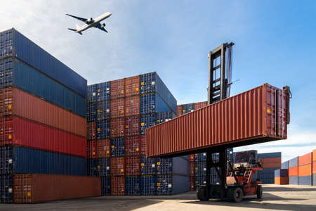 Container Cargo freight ship for Logistic Import Export Banque d'images