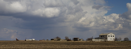 hurricane weather: Abandoned farm and hurricane, weather, old house