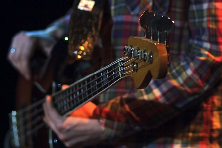 chords: hands are chords bass Stock Photo
