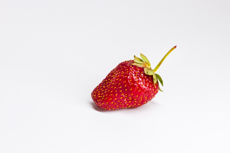 Strawberry on a white background , plants, spring period