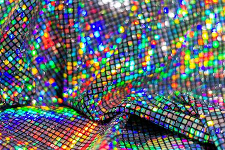 festive expensive colored sequin fabric , holidays, holiday mood Reklamní fotografie