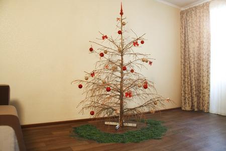 dried christmas tree